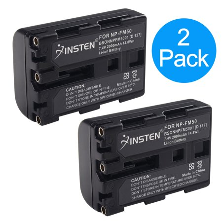 Insten TWO Battery Pack for Sony NP-FM30 NP-FM50 DSC-S30 DSC-S85 F707 F717 F828