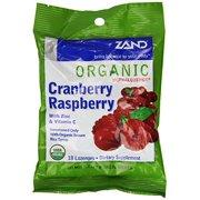 Zand HerbaLozenge Organic Cranberry Raspberry | Throat Lozenges w/ Vit. C & Zinc for Immune Support | No Corn Syrup or Cane Sugar (12 Bags, 18 Lozenges)