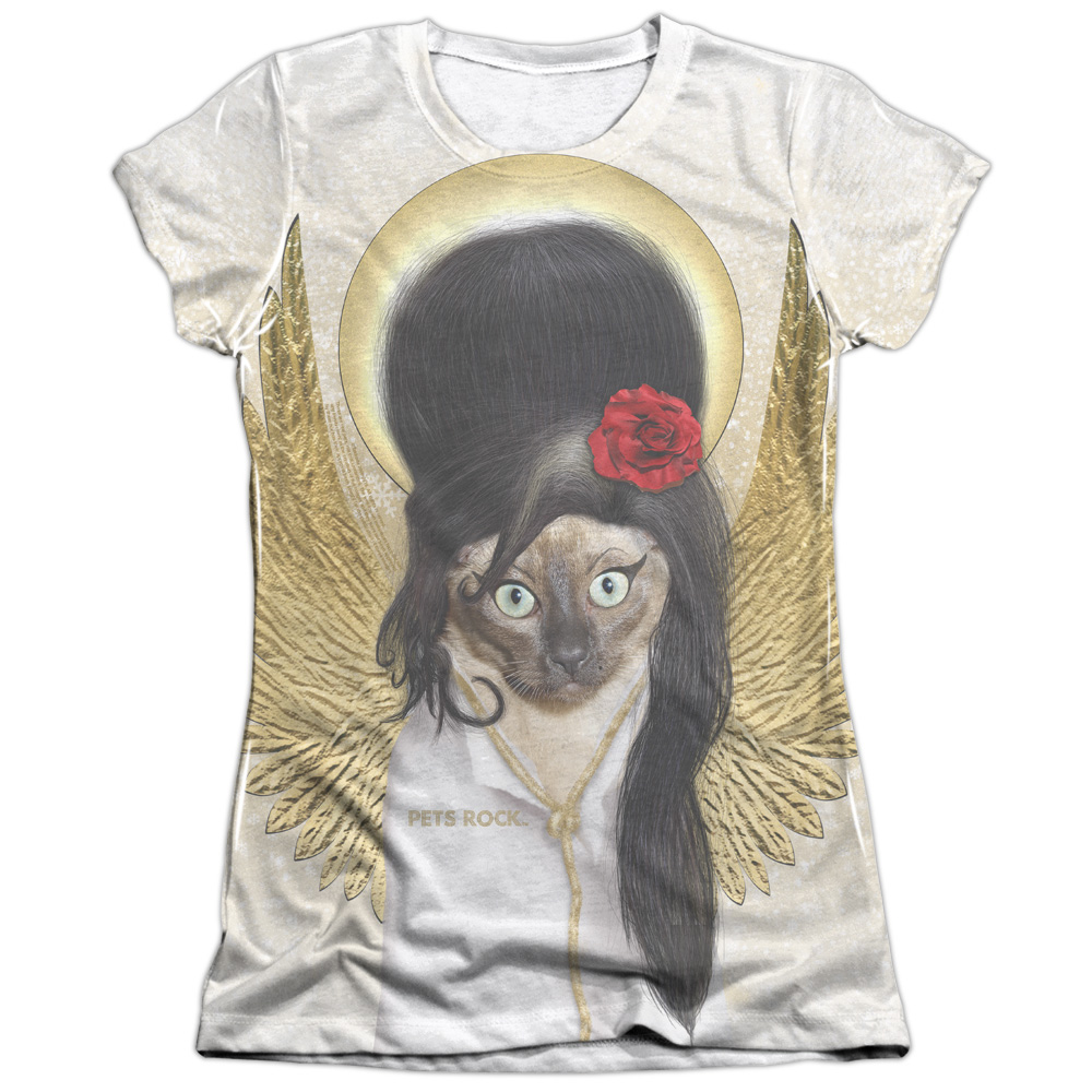 Pets Rock Tattoo Angel (Front Back Print) Juniors Sublimation T Shirt