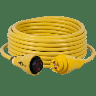 Marinco #CS30-50 Cord Set, 30A 125V, Yellow, 50'