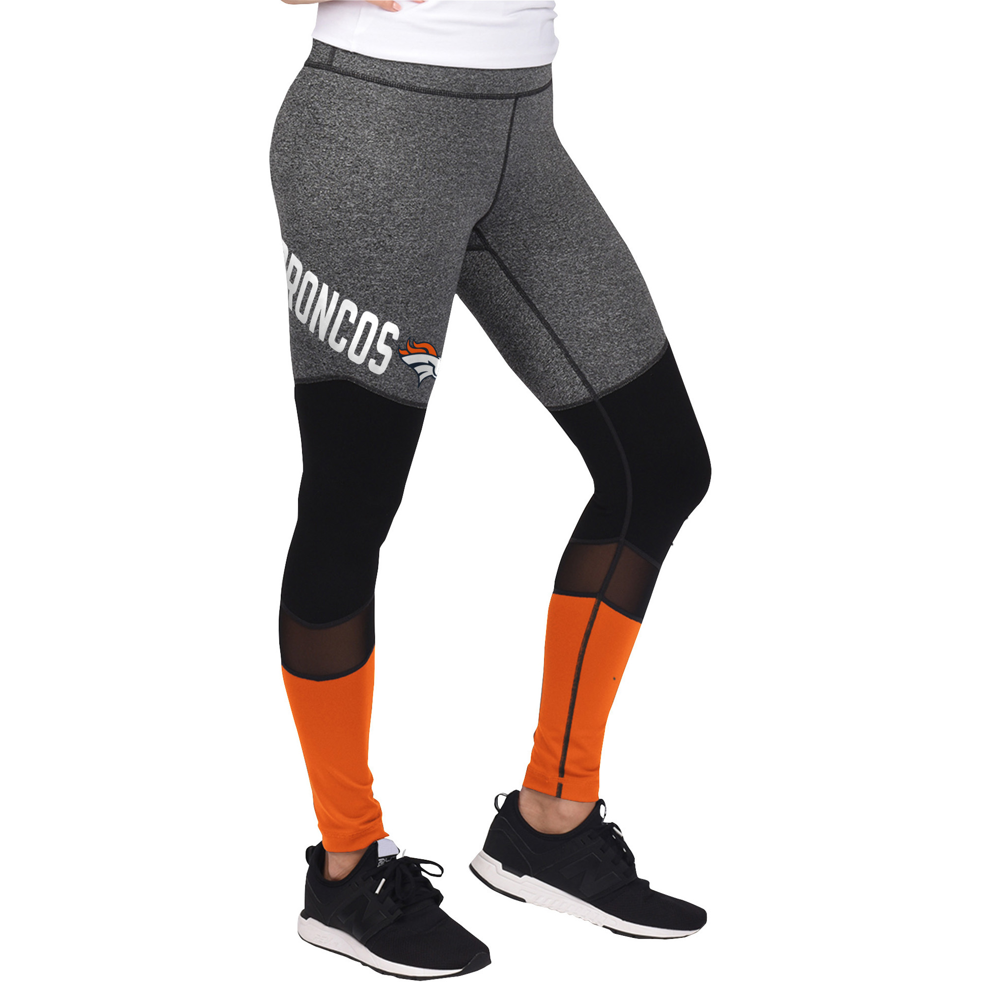 Denver Broncos G-III 4Her by Carl Banks Women's High Stepping Leggings - Gray/Black