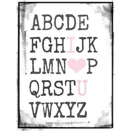 Tangletown Fine Art Alphabet Love by Vicki Dvorak Poster Frame - 23 ...