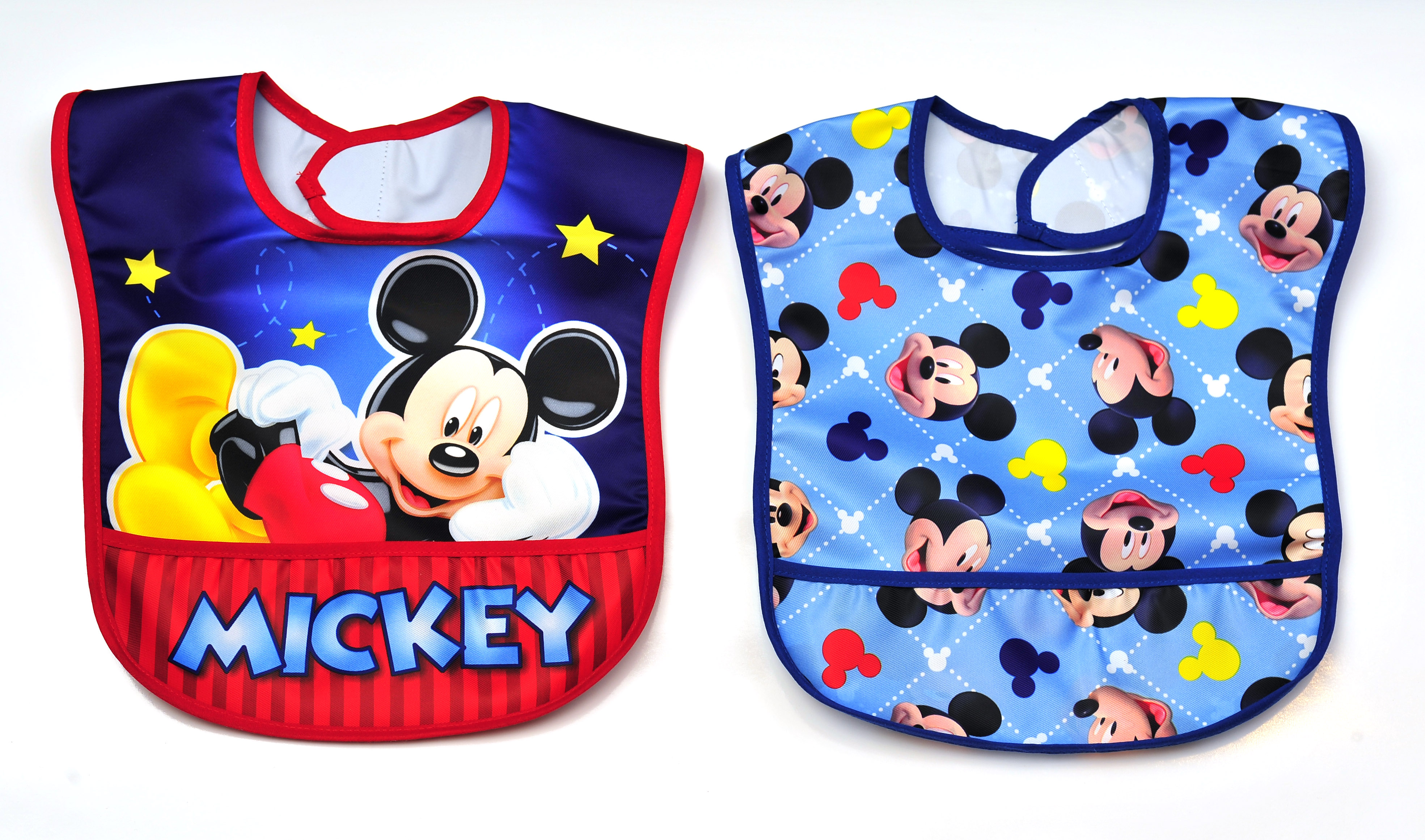 Disney 2 Pk Mickey Mouse Toddler Bibs