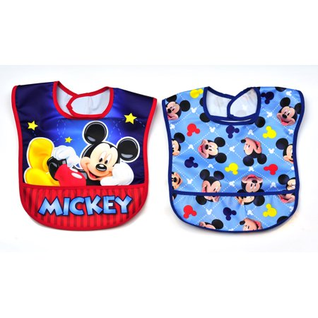 Disney 2 Pk Mickey Mouse Toddler Bibs