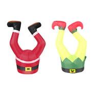 Holiday Time Santa Legs & Elf Legs Inflatable 3.5'