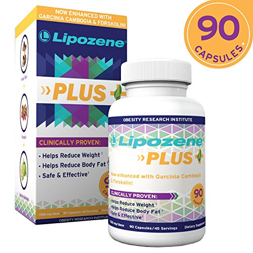 Lipozene Plus Garcinia Cambogia Extract & Forskolin Fat Burner Weight Loss Pills, 90 Ct
