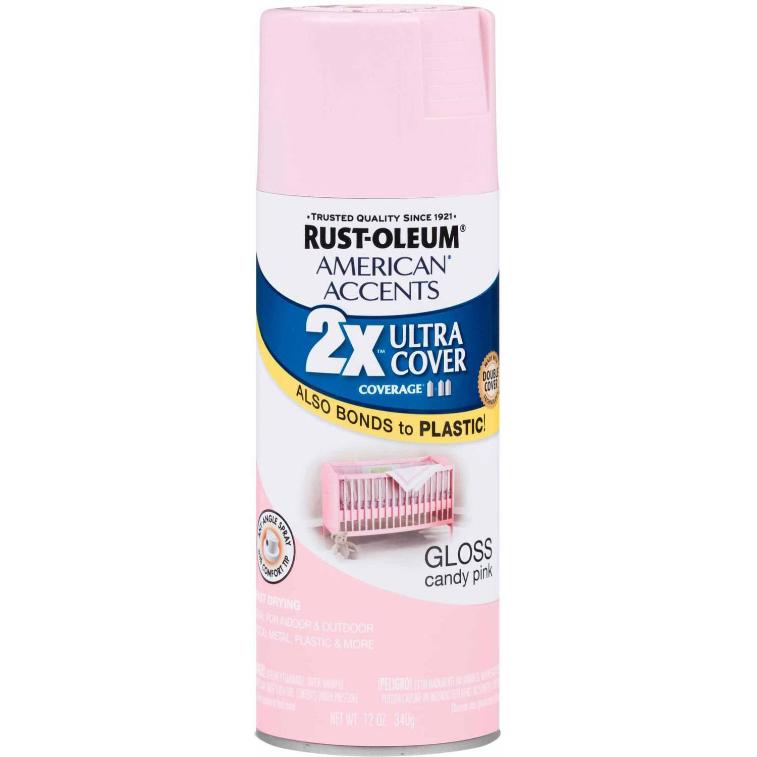 Spray Paint Colors Walmart Part - 18: Rust-Oleum American Accents Ultra Cover 2X Gloss Candy Pink Spray Paint And  Primer In 1, 12 Oz - Walmart.com