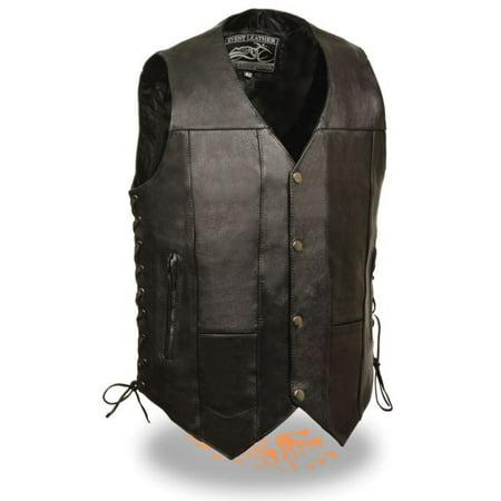 - Milwaukee Event Mens 10 Pocket Side Lace Vest Black