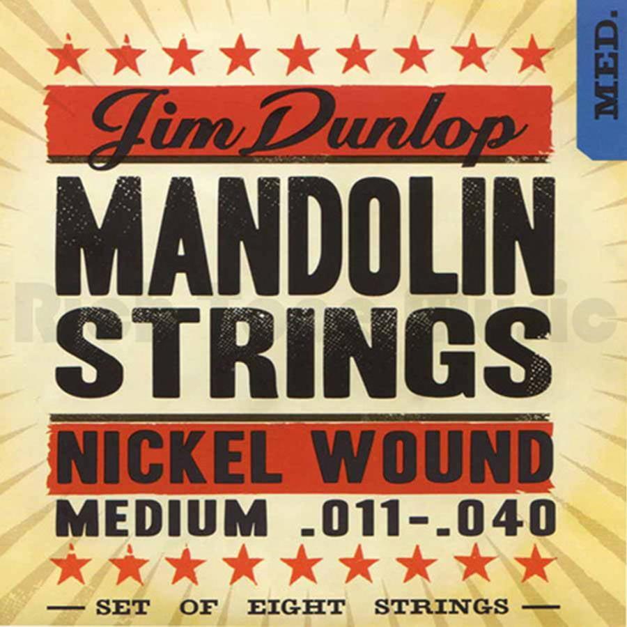Dunlop DMN1140 Nickel-Plated Steel Medium Mandolin String Set of 8 .011 by Dunlop