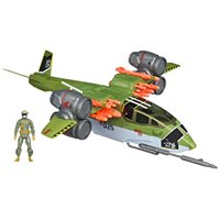 g.i. joe retaliation ghost hawk ii vtol vehicle with conrad duke hauser figure
