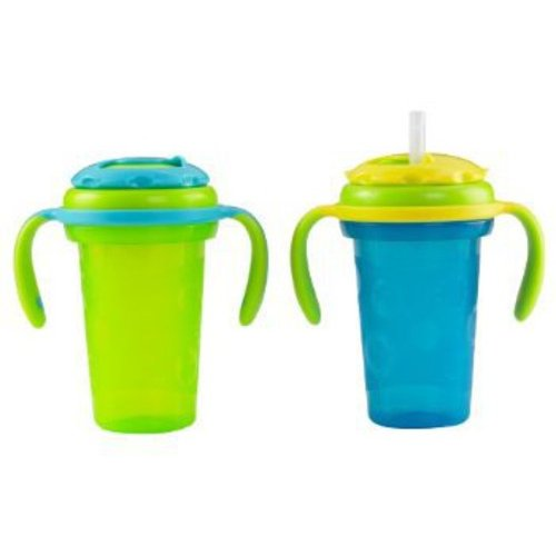 Fisher-Price Boys' Stack 'n Store Sippy Cup with Straw, 2-Pack