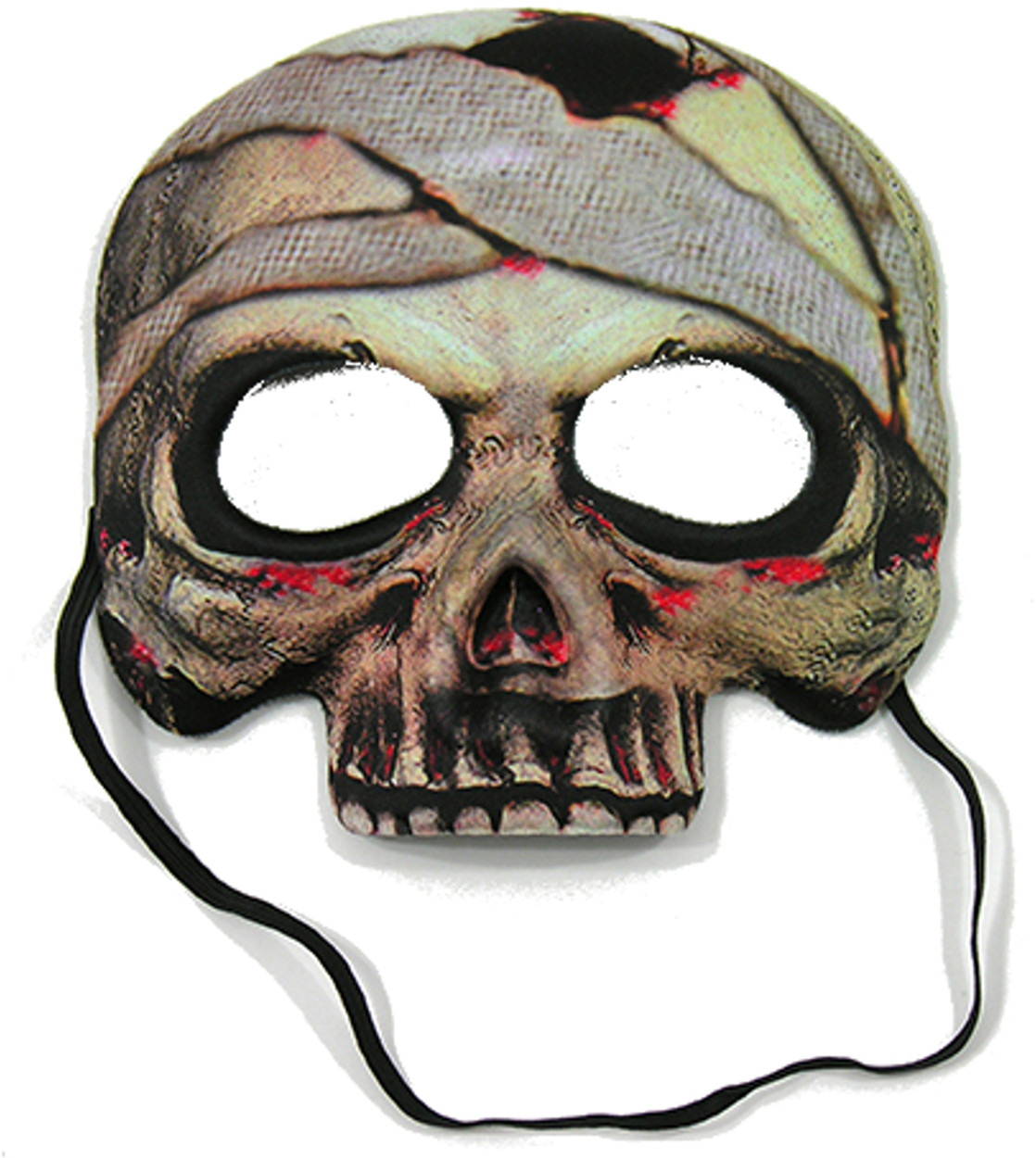 Adult's Scary Evil Egyptian Corpse Mummy Vinyl Mask Costume Accessory