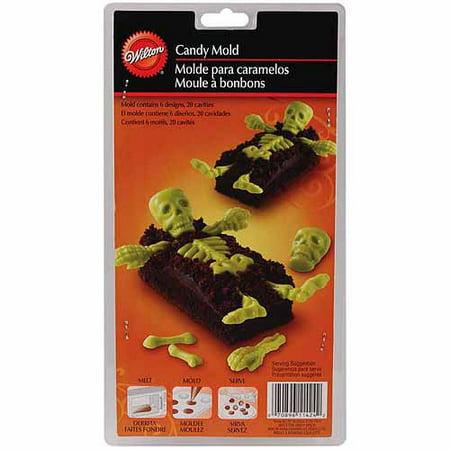 Wilton 20-Cavity Cookie & Candy Mold, Skeleton Bones 2115-1424
