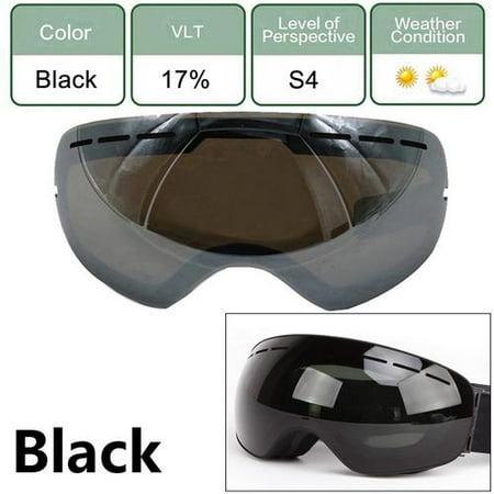 Night Vision Windproof Ski Snow Goggles Eyewear - Anti Fog Double Lens All Mountain / UV Protection