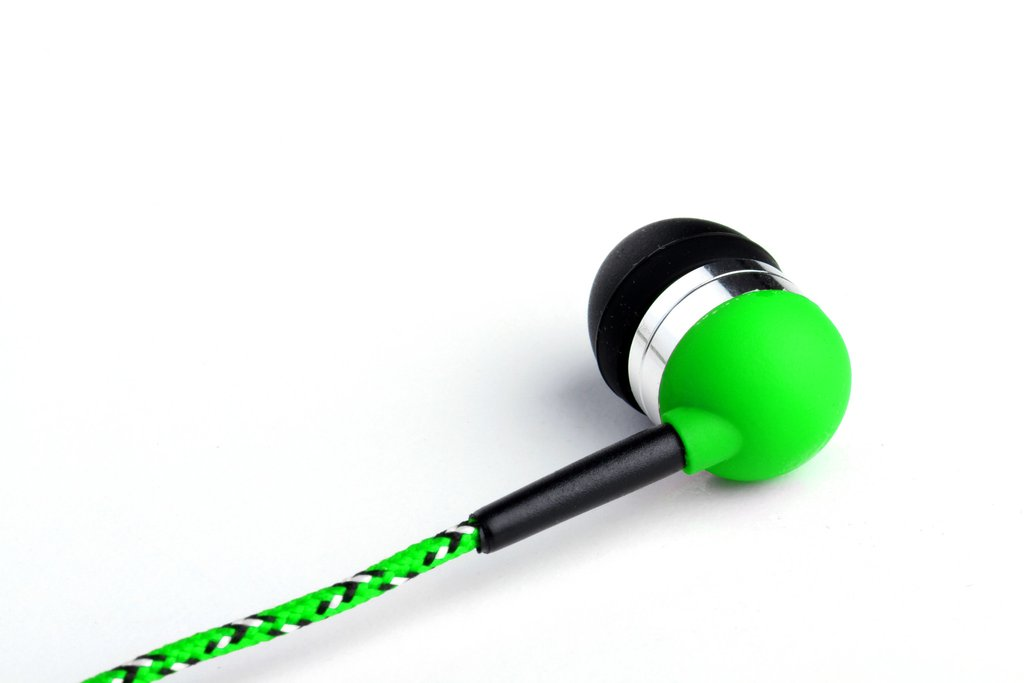 Tweedz Heavy Duty, No Tangle Neon Green Earbuds - Earphones Headphones with Tangle-Free, ...