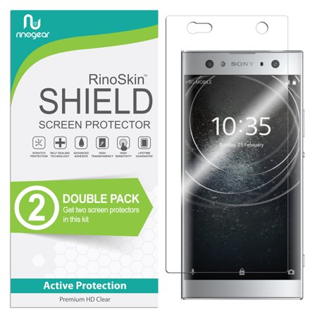 Sony Xperia XA2 Ultra Screen Protector [2-PACK] (Edge-to-Edge) RinoGear Flexible HD Crystal Clear Anti-Bubble Unlimited Replacement Film ()