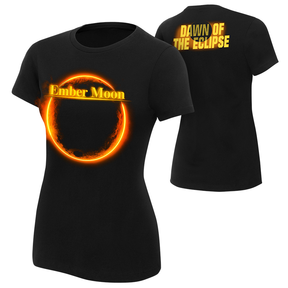 "Official Wwe Authentic Ember Moon ""Dawn Of The Eclipse"" Women's  T-Shirt Black Small"