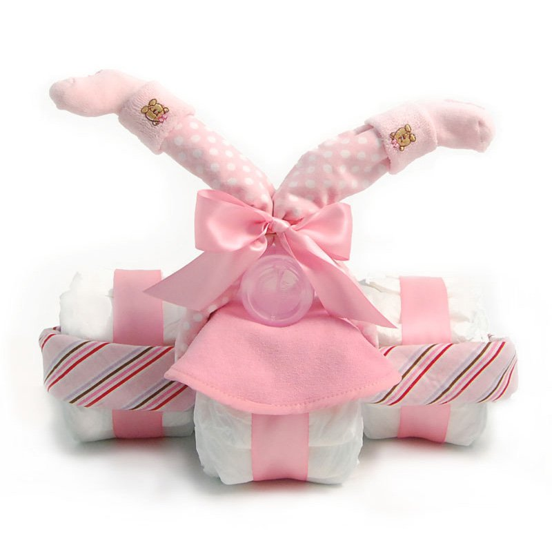 Nikki's Tricycle Diaper Gift for Girls