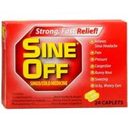 Sine-Off Sinus/Cold Medicine Caplets - 24 ct