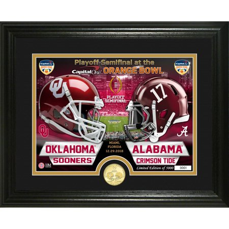 - Alabama Crimson Tide vs. Oklahoma Sooners Highland Mint College Football Playoff 2018 Orange Bowl Dueling Bronze Coin Photomint - No Size