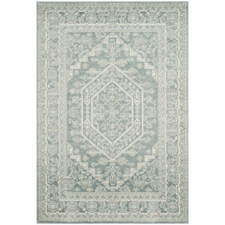 Hawthorne Collection 4' X 6' Power Loomed Rug in Slate and Ivory ()