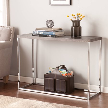 Southern Enterprises Groot Modern Console Table, Gray