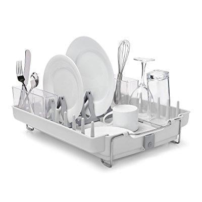 oxo good grips convertible foldaway dish rack, stainless - Convertible Rack