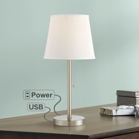 360 Lighting Modern Accent Table Lamp With Hotel Style Usb