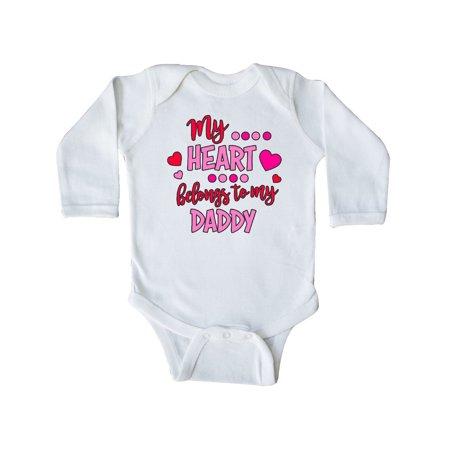 My Heart Belongs to my Daddy Long Sleeve Creeper (Sorry Boys My Heart Belongs To Daddy)