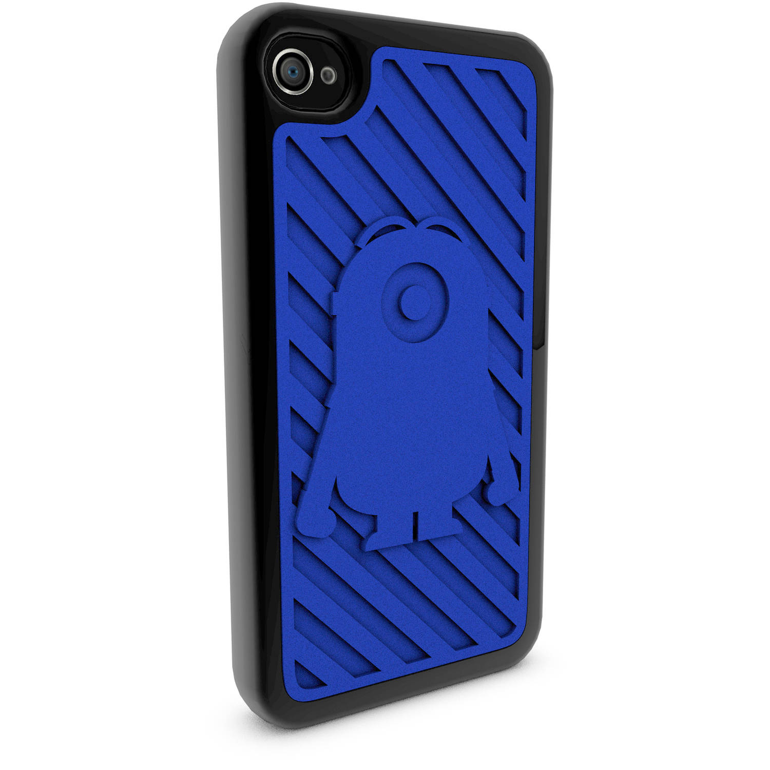 Apple iPhone 4 and 4S Custom Stuart Silhouette 3D Printed Phone Case - Despicable Me - Stuart Silhouette
