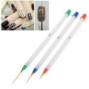 Nail art pen zodaca 3 piece set nail art acrylic drawing painting pen kit set brushes multi prinsesfo Images