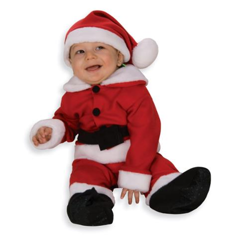 Fleece Santa Costume With Belt Newborn Child 6-12 Months