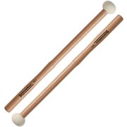 Innovative Percussion FB1 Hard Marching Bass Drum Mallets with Heartwood Hickory Shafts