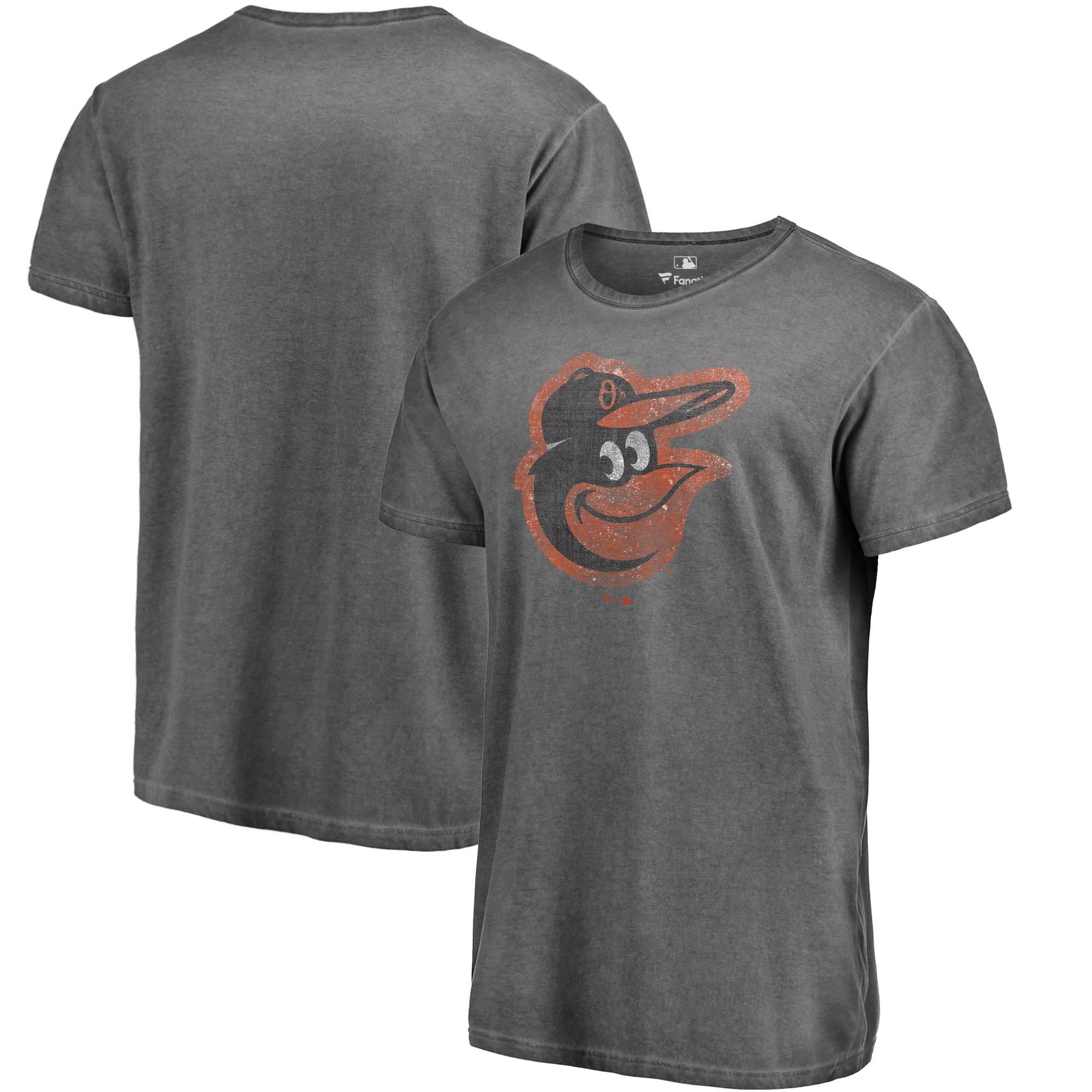 Baltimore Orioles Fanatics Branded Shadow Washed Logo T-Shirt - Black