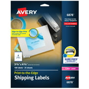 "Avery Shipping Labels, Sure Feed, 3-3/4"" x 4-3/4"", 100 Labels (6878)"