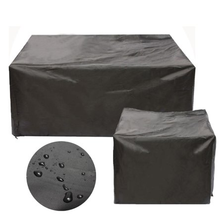 3 Sizes 210D Waterproof Furniture Cover Home Garden Patio Wicker Table Sofa Couch Anti Dust Covers Black - image 1 of 7