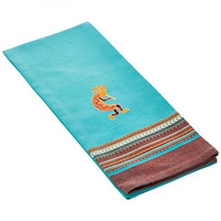 kay dee designs cotton embroidered tea towel, 18-inch by 28-inch, simply southwest - Southwest Stamped Design