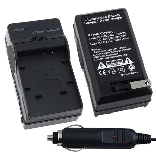 Insten Compact Battery Charger Set For Panasonic CGA-S007 / DMW-BCD10