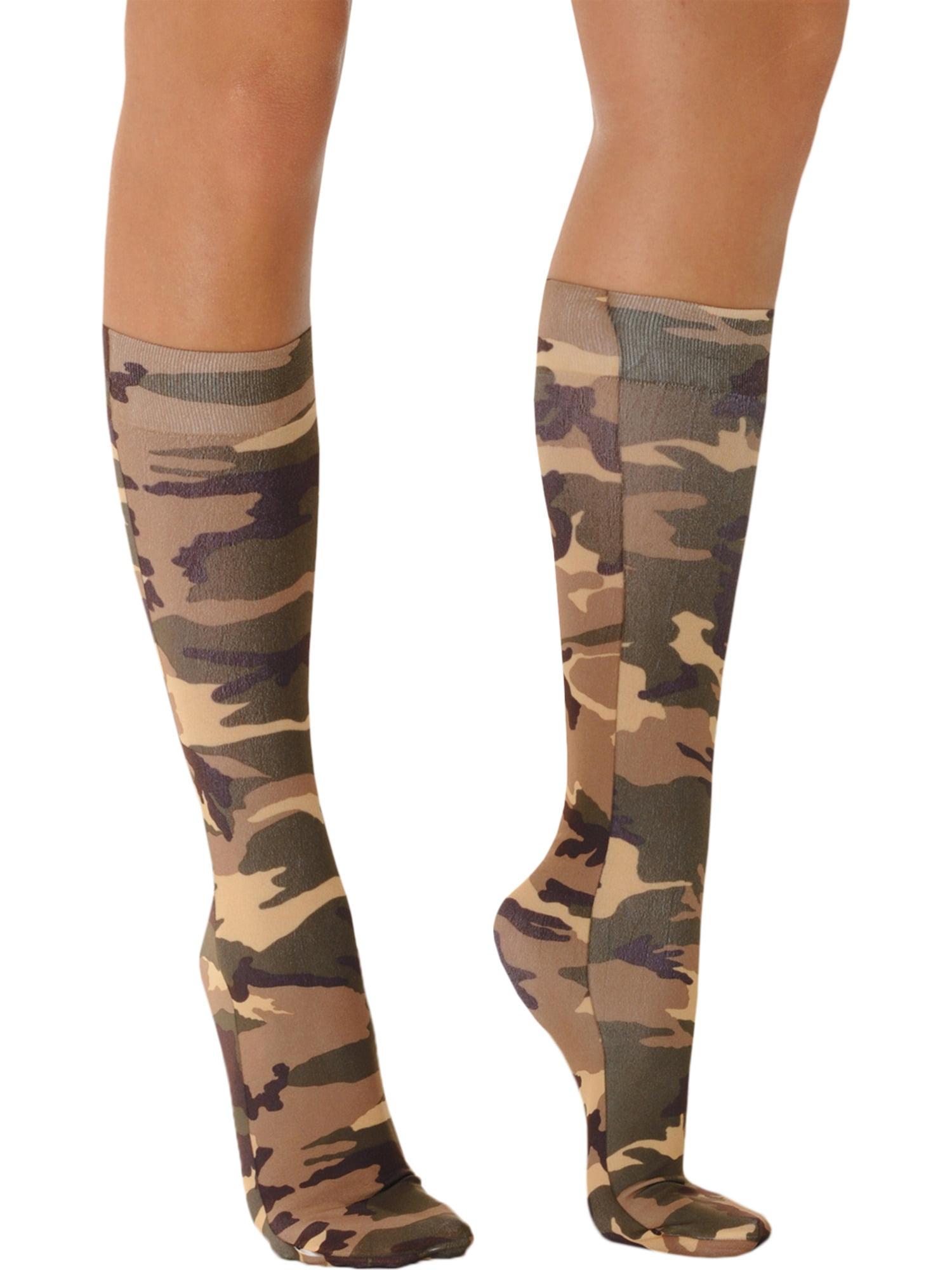 2cb11c03dd8 Celeste - Camo Socks Knee High Trouser Womens Sock Military Army Costume  Accessory Soxs Sizes  One Size - Walmart.com