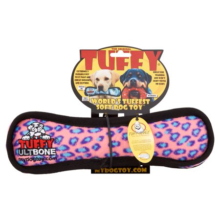 Tuffy Pink Leopard Ultimate Bone