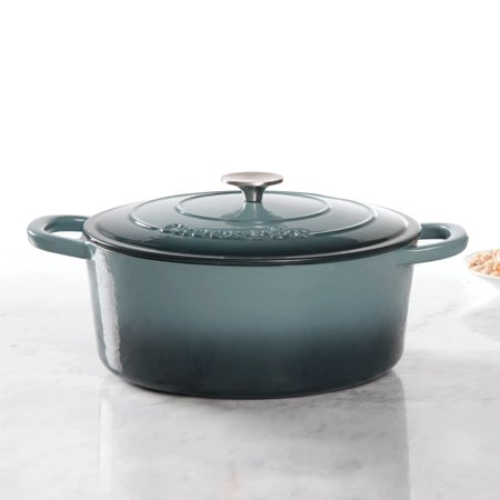Crock-Pot Artisan 7 Qt Dutch Oven - Oval - Slate Grey - Cast Iron - GBX