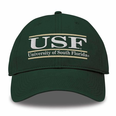 USF Bulls Adult NCAA Team Color Bar Logo Adjustable Hat  - (Ncaa Team Logos)