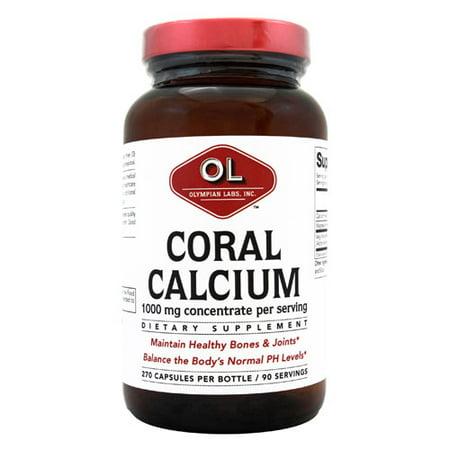 Olympian Labs Le calcium de corail Complément alimentaire, 1000 mg, 270 count