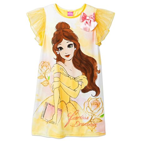Best Girls Pajamas (Disney Beauty And The Beast Movie Girls Belle Nightgown)