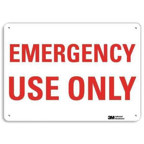 LYLE U7-1156-RA_14X10 Safety Sign, Reflective Alum, 10inHx14inW