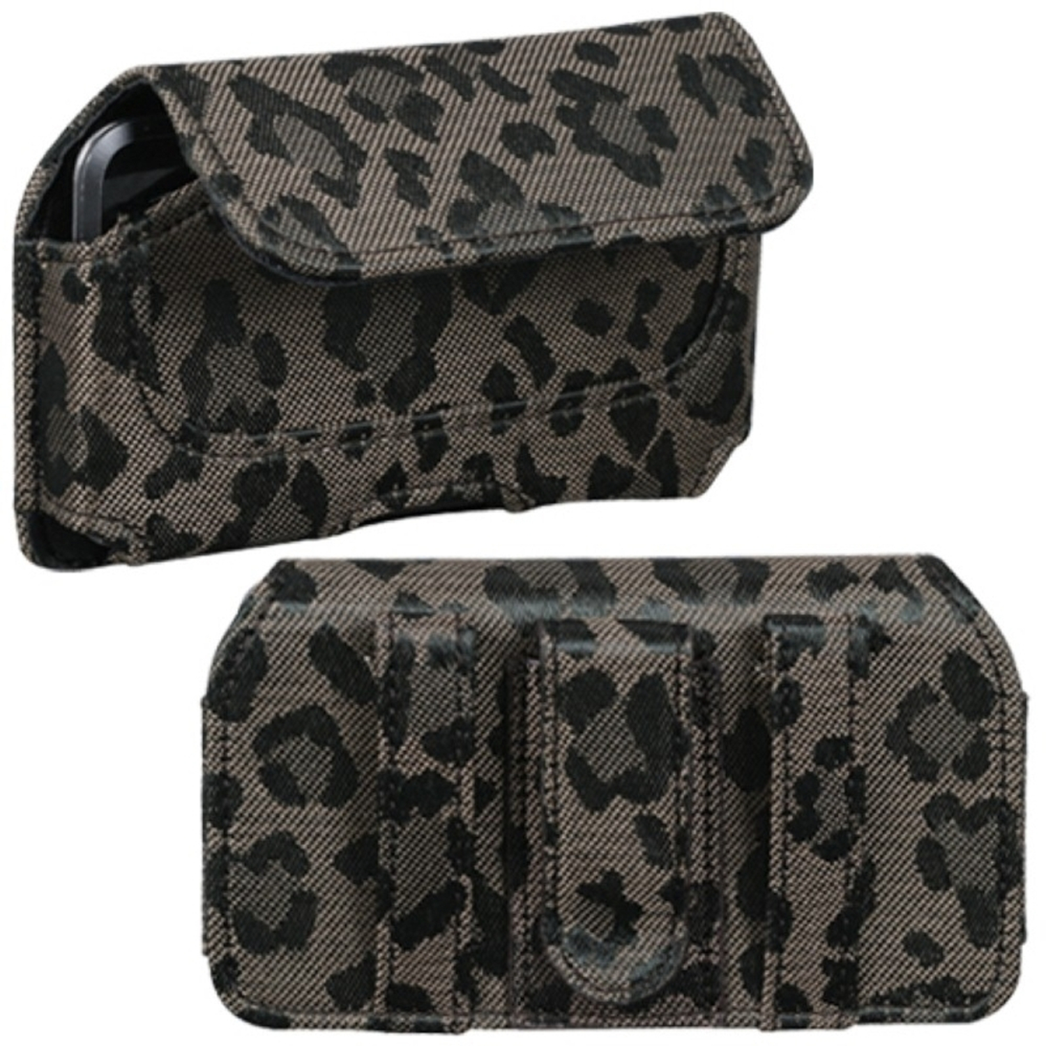 Insten Horizontal Pouch Case (722601) (Coffee Watermark)(NO Package) for APPLE: iPod touch 1st 2nd 3rd 4th Gen