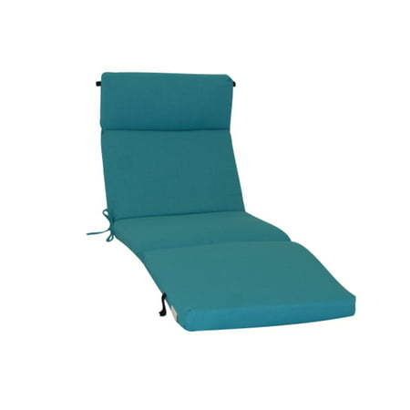 Blazing needles outdoor chaise lounge cushion in aqua 24 for Aqua chaise lounge cushions