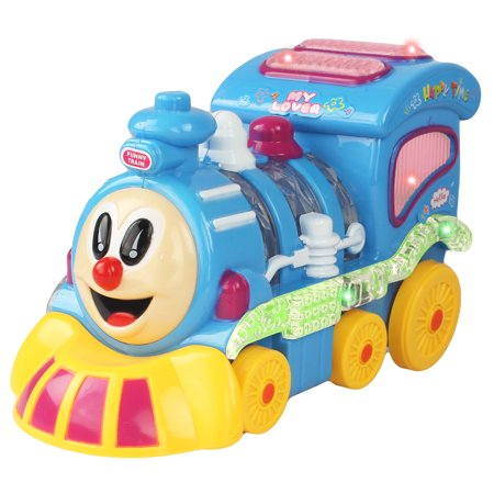Battery Operated Bump and Go Choo Choo Train with Lights and Music for (The Tractors Boogie Woogie Choo Choo Train)