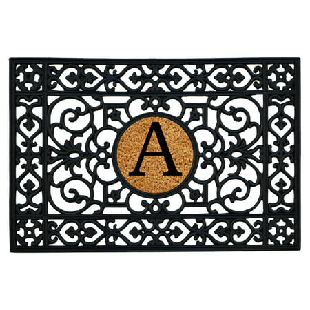 36 Monograms Door Mat (Calloway Mills Rubber Monogram Outdoor Doormat, Multiple Sizes )