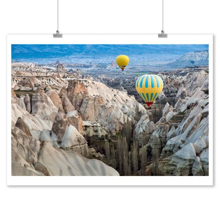 Cappadocia, Turkey - Hot Air Balloons - Lantern Press Photography (9x12 Art Print, Wall Decor Travel Poster)](Turkish Lanterns)
